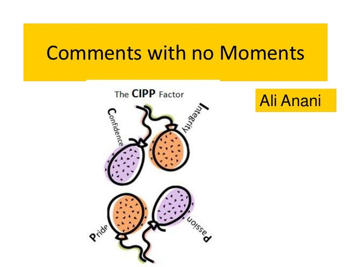 Comments with no Moments                   Ali Anani