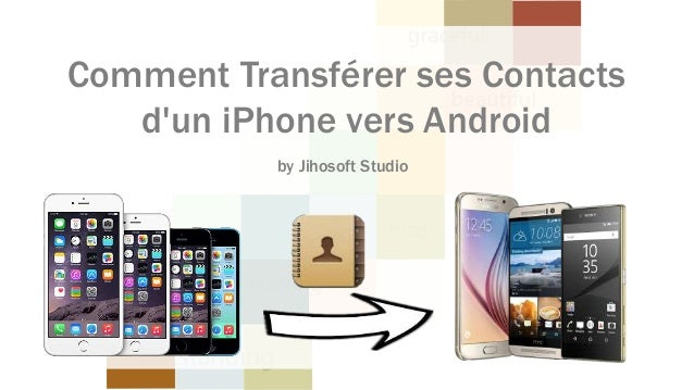 Comment Transférer ses Contacts d'un iPhone vers Android by Jihosoft Studio
