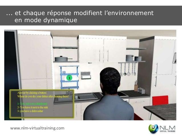 ... et chaque réponse modifient l'environnement    en mode dynamique www.nlm-virtualtraining.com