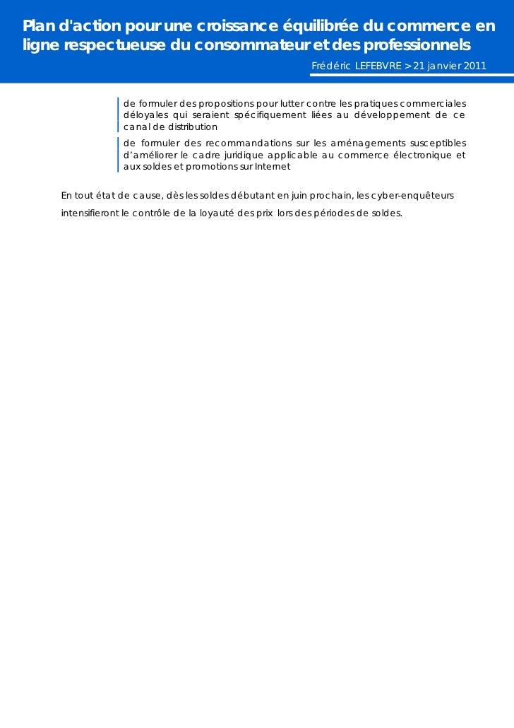 Plan d'action pour le commerce en ligne