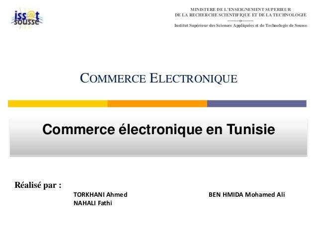 MINISTERE DE L'ENSEIGNEMENT SUPERIEUR  DE LA RECHERCHE SCIENTIFIQUE ET DE LA TECHNOLOGIE  --------o--------  Institut Supé...