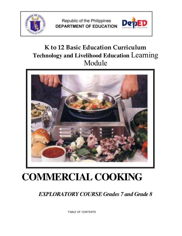 Commercial cooking learning module k to 12 basic education curriculum technology and livelihood education learning module commercial cooking exploratory cour forumfinder Images