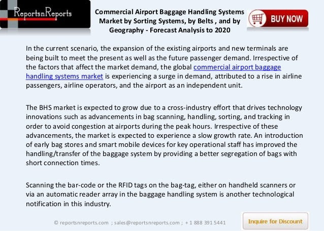 Airport Baggage Handling Scan : Commercial airport baggage handling systems report