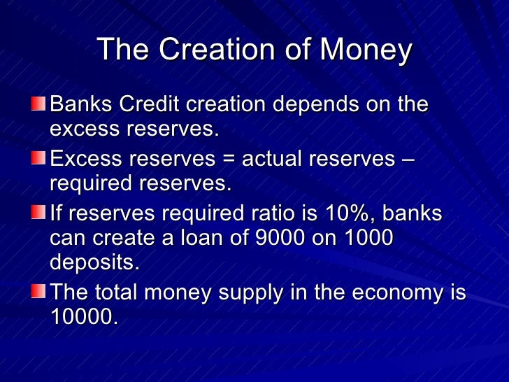 What is Credit Creation? Can you explain it? .