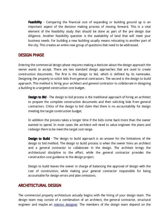 Commercial Construction Architecture Design Process Houston