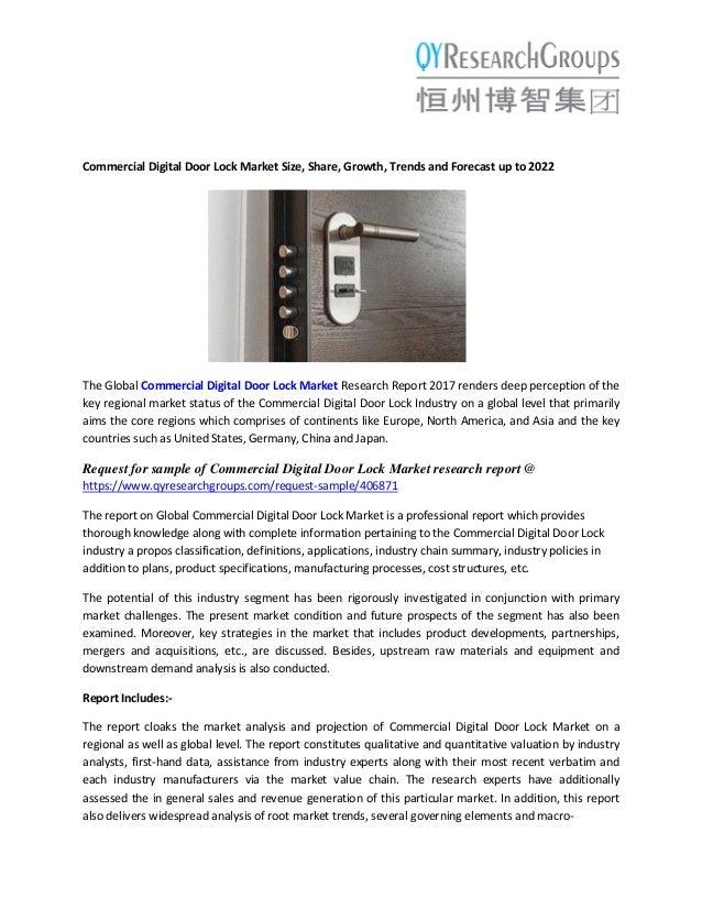 Commercial Digital Door Lock Market - Global Trends, Market