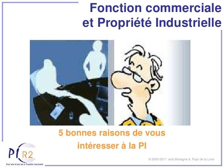 Fonction commerciale     et Propriété Industrielle5 bonnes raisons de vous    intéresser à la PI                         ©...