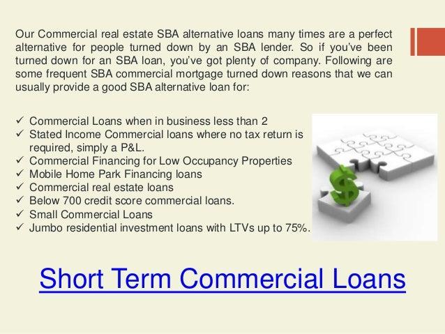 3 Short Term Commercial Loans
