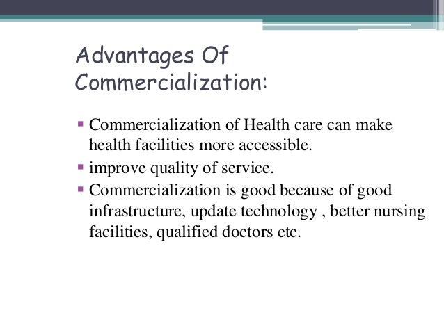 commercialization of healthcare pdf