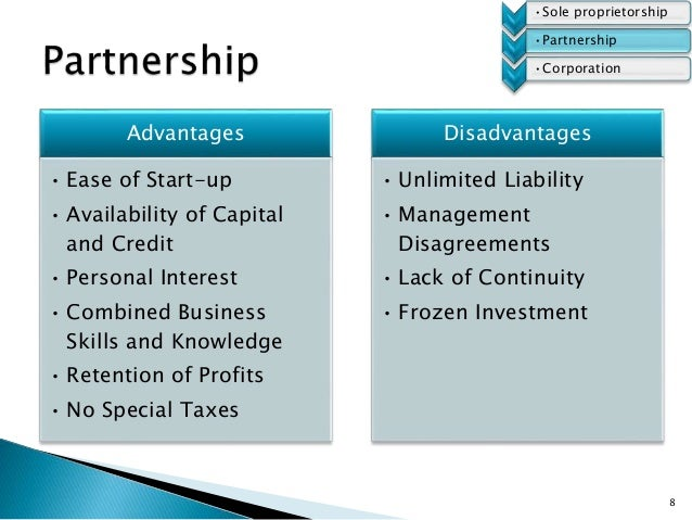 an analysis of the ownership for the business a partnership The types of business ownership - the types of business ownership this report is about the advantages and disadvantages of different types of business ownerships.