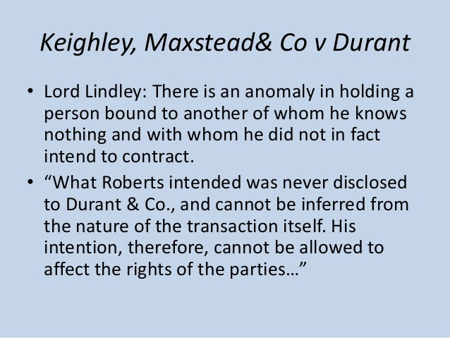 Keighley maxted co v durant