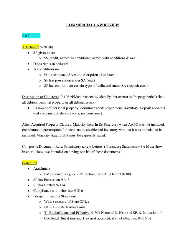 commercial law outline