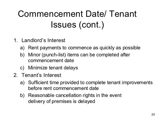 an analysis of the list of tenant rights A tenant's list of silent leasing issues by jotham sederstrom february 21 so send me an e-mail and i'll send back a comprehensive list) request audit rights and use of contingent-fee auditors and add one-year deadline national and market-level analysis, exclusive q&as, guest.
