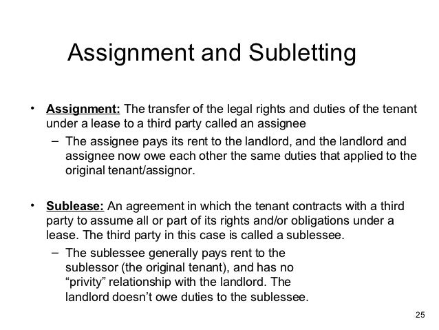 Commercial lease analysis – Sublet Agreement Definition