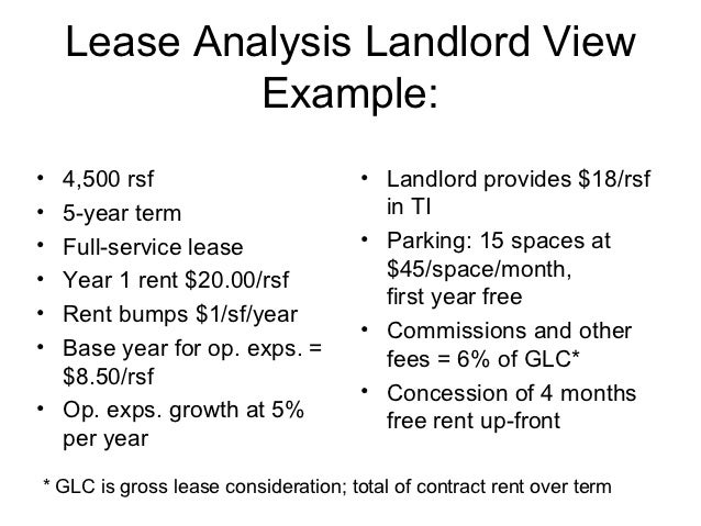 Commercial lease analysis – Parking Lease Template