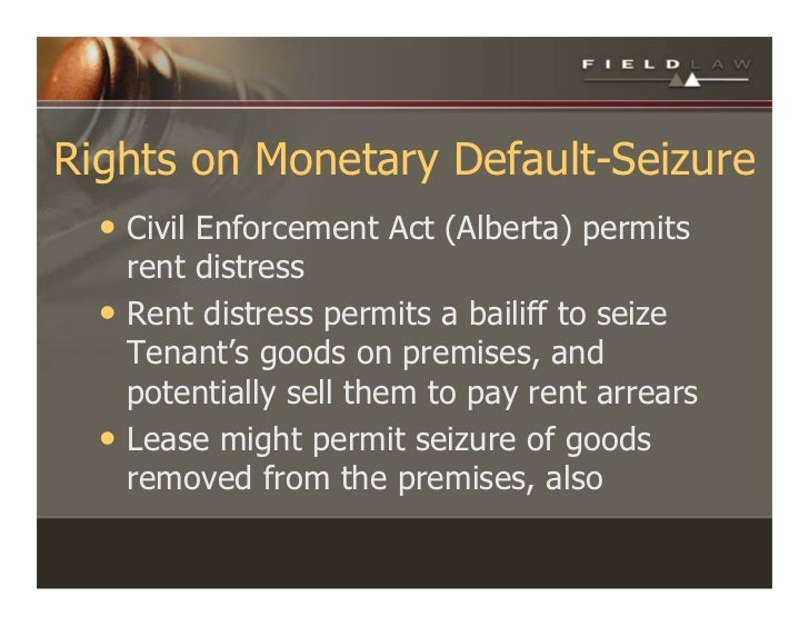 Commercial Lease Rights And Remedies 2009 Alberta