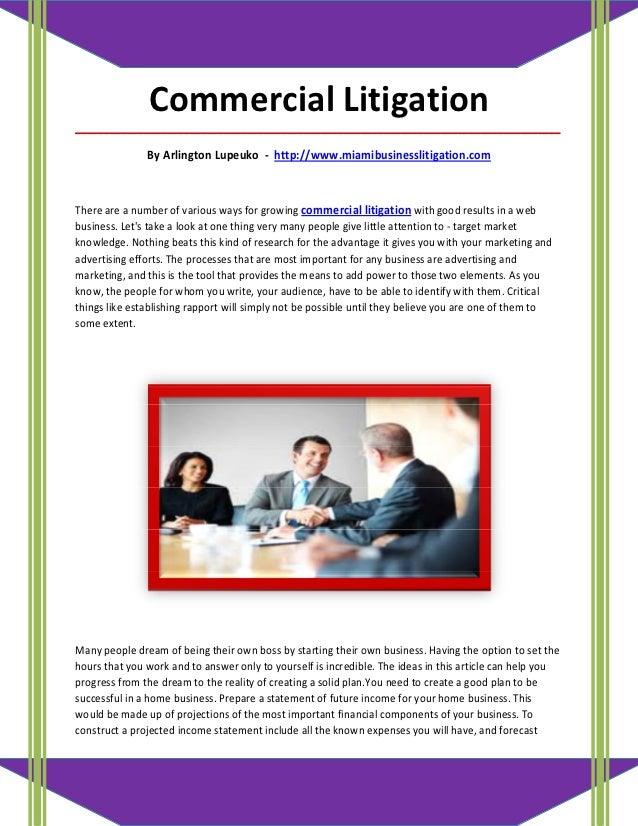 Commercial Litigation_____________________________________________________________________________________               B...