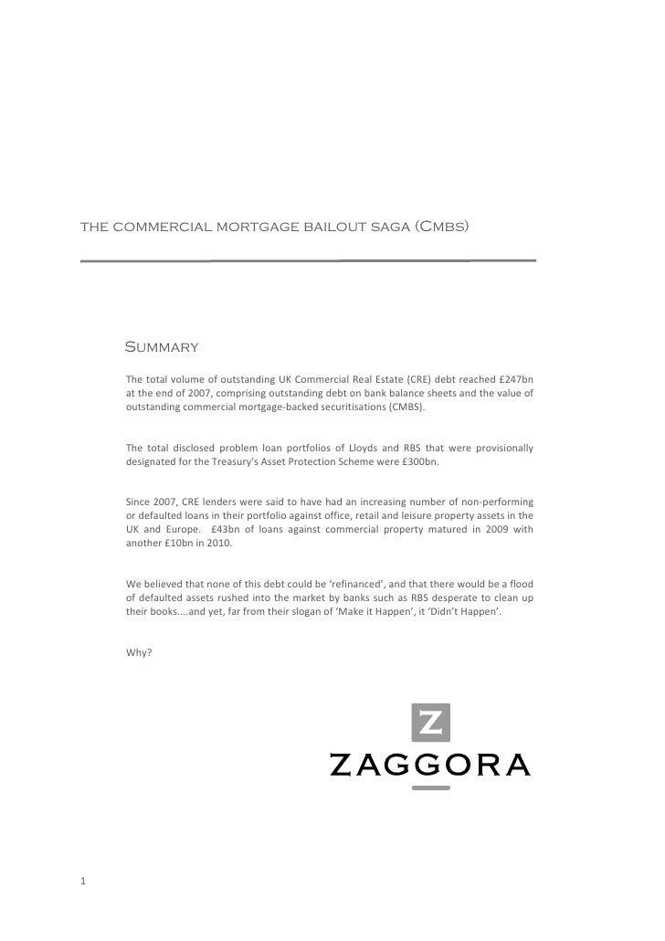 Commercial Mortgage Bailout Saga