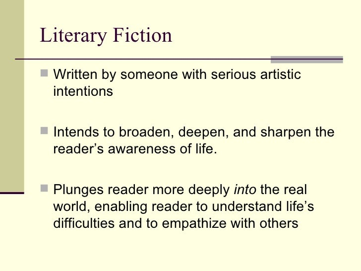 literary fiction Can a book be both literary and commercial yes: that's upmarket fiction find  out what exactly this distinction means and why it matters.
