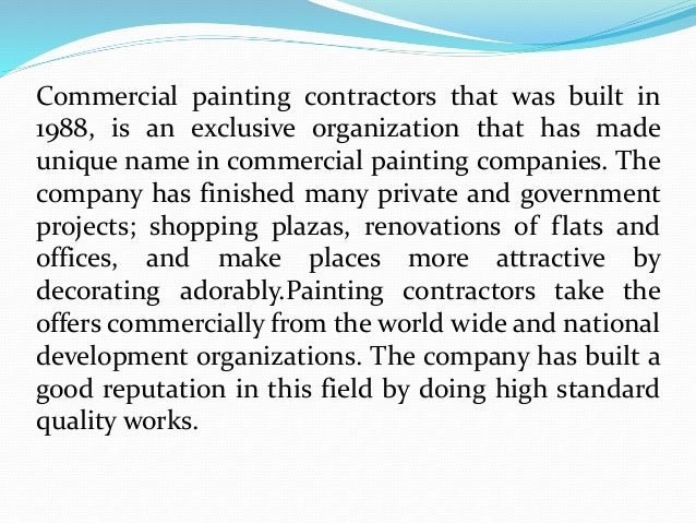Commercial Painting Contractors A Unique Name In Paint Decor