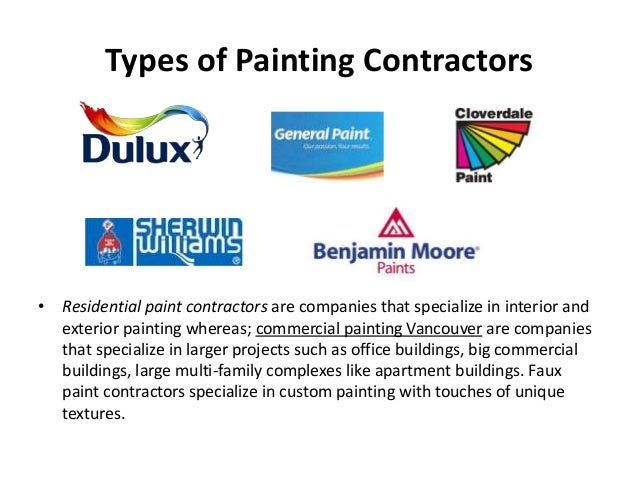 Commercial Painting Contractors in Vancouver – Painting Contract