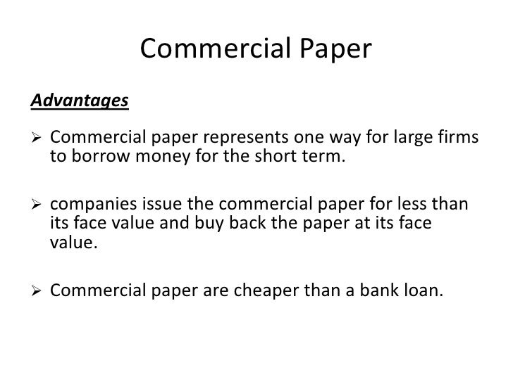 commercial paper short term loan