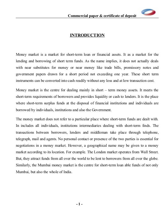commercial paper examples