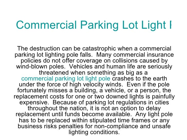 Commercial parking lot light pole packages mozeypictures Images