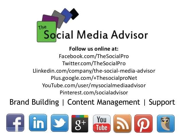 Brand Building | Content Management | Support Follow us online at: Facebook.com/TheSocialPro Twitter.com/TheSocialPro Llin...