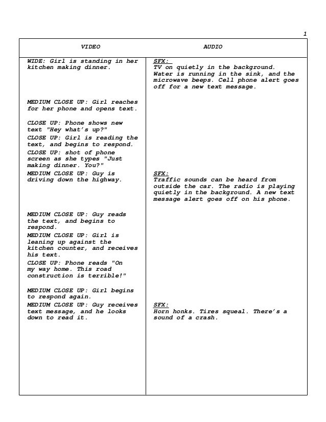 tv commercial script template - scriptwriting psa commercial script