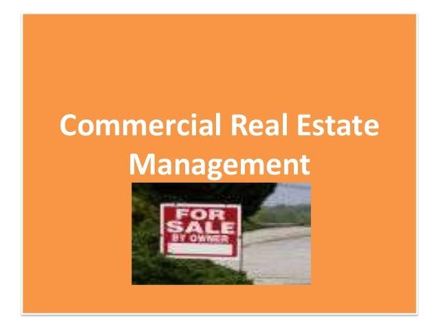 Commercial Real EstateManagement