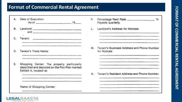 Business Rental Agreement Template Commercial Lease Agreement