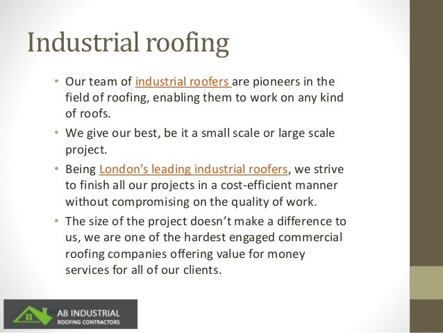 Commercial Roofing Services In Stratford