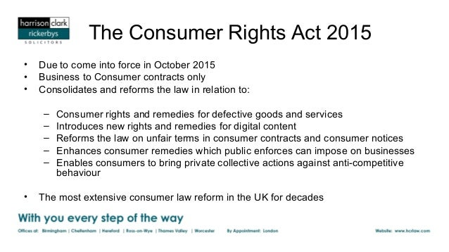 Consumer Rights Act  Template Letter