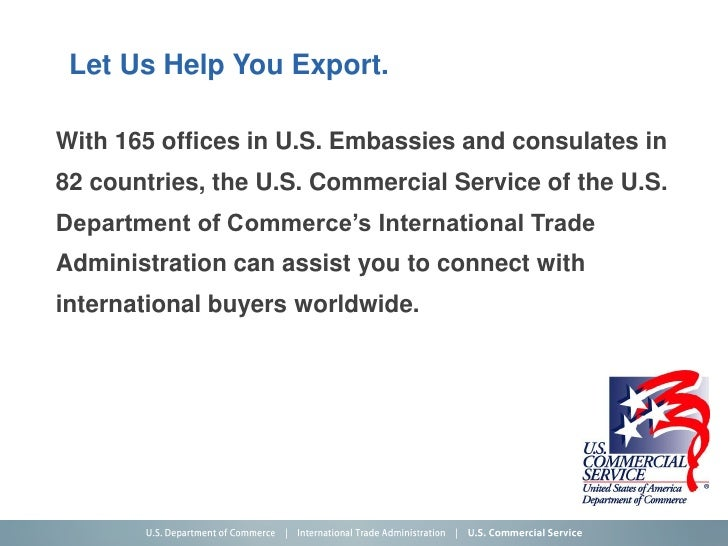 U s department of commerce international trade - Bureau of export administration ...
