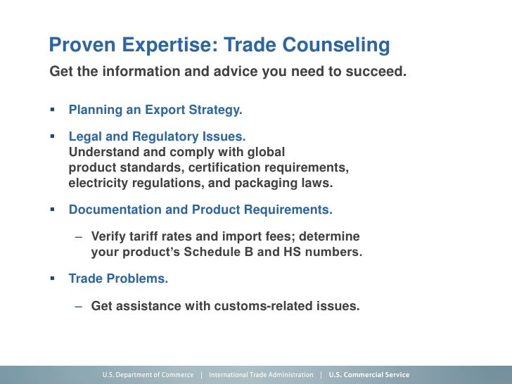 U S  Department of Commerce, International Trade Administration