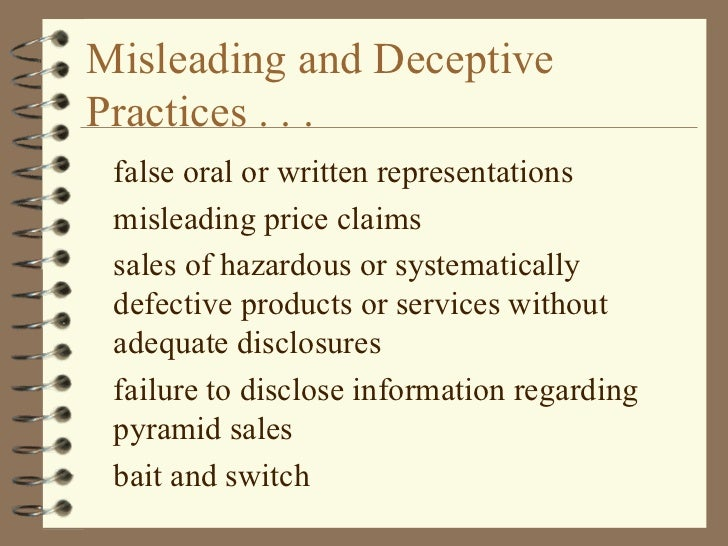 deceptive commercial speech and advertising False advertising is the use of misleading these factors of deceptive advertising are critically analysed as they may crucially impair a consumer's ability to make an informed decision prohibition of unfair and unethical commercial practices and omitting important information.