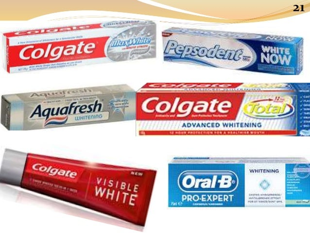 Commercial toothpaste