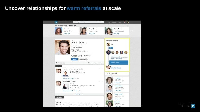 Uncover relationships for warm referrals at scale Noah