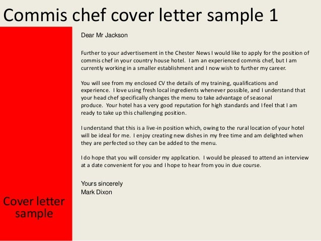 Job Application Letters for Chef