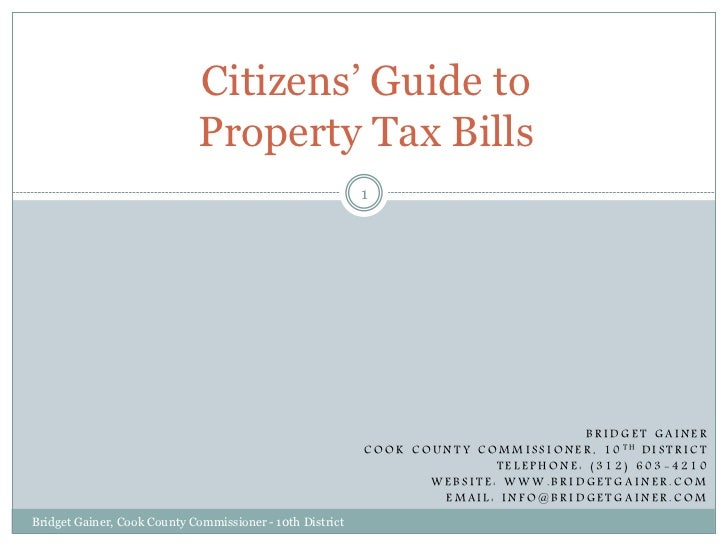 Citizens' Guide to                             Property Tax Bills                                                         ...