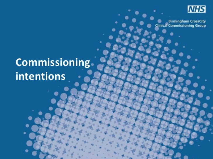 Commissioningintentions