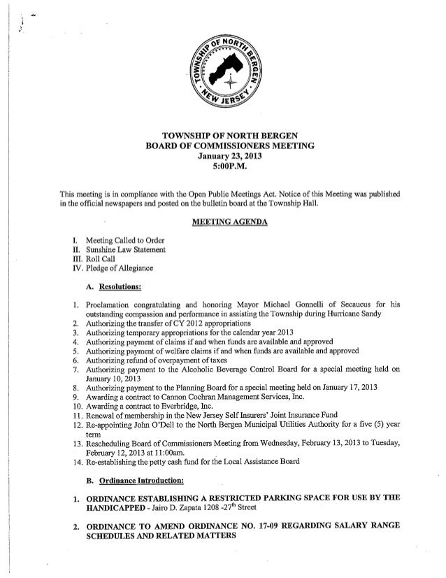 City of North Bergen Payment of Claims for January 2013 Part 2