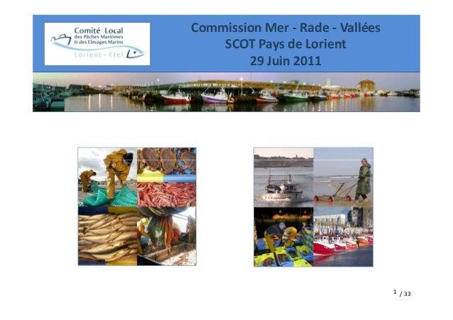 Commission Mer - Rade - Vallées    SCOT Pays de Lorient        29 Juin 2011                                  1 / 33