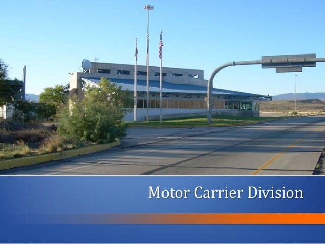 udot motor carrier division report