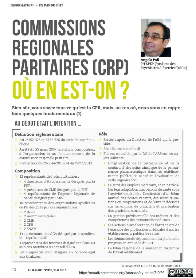 COMMISSIONS REGIONALES PARITAIRES (CRP) Angelo Poli PH SPEP (Syndicat des Psychiatres d'Exercice Public) INFORMATION ›››› ...