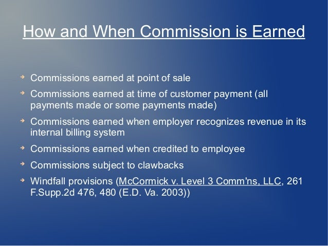 Commission Pay For Employees Structuring Agreements Defending Clai