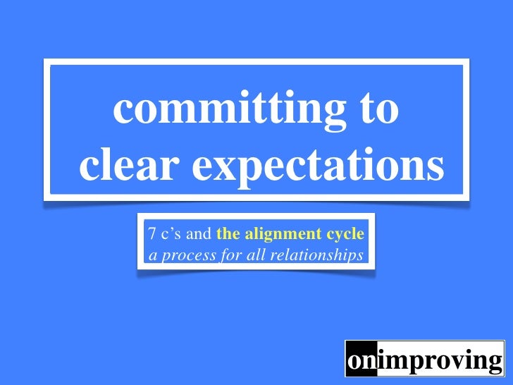 committing toclear expectations   7 c's and the alignment cycle   a process for all relationships