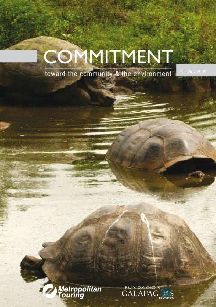 COMMITMENT                                          Oct-Nov 2009 toward the community & the environment
