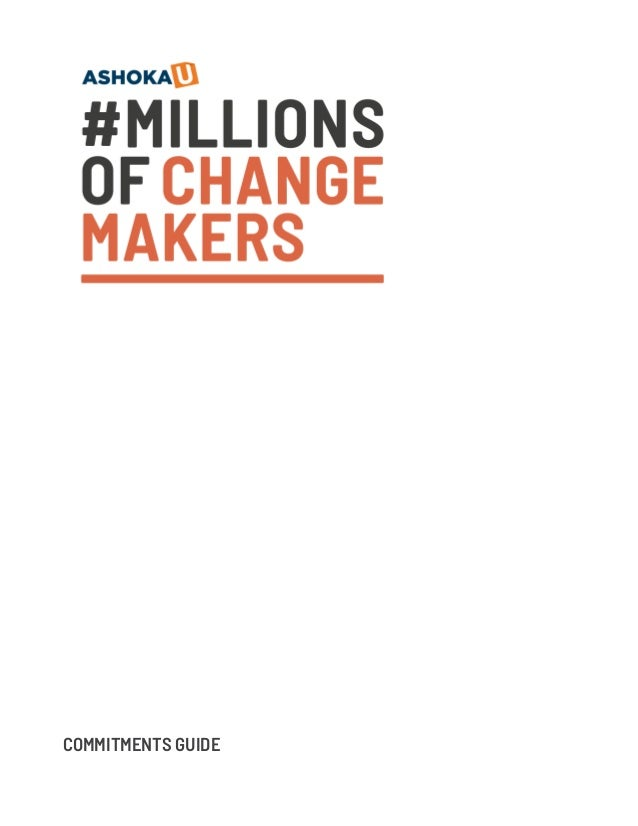 #MILLIONS OFCHANGE MAKERS COMMITMENTS GUIDE